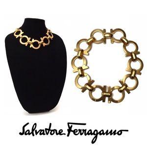 Vintage Salvatore Ferragamo Gancini Necklace